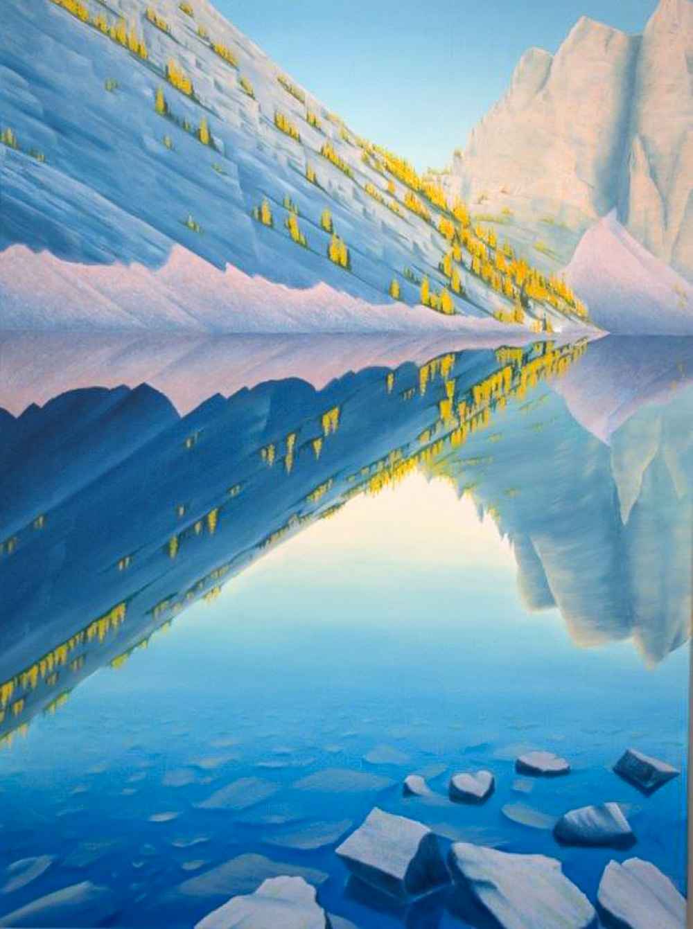 Jim Visser, Lake Agnes, oil on canvas, 48 x 36 in